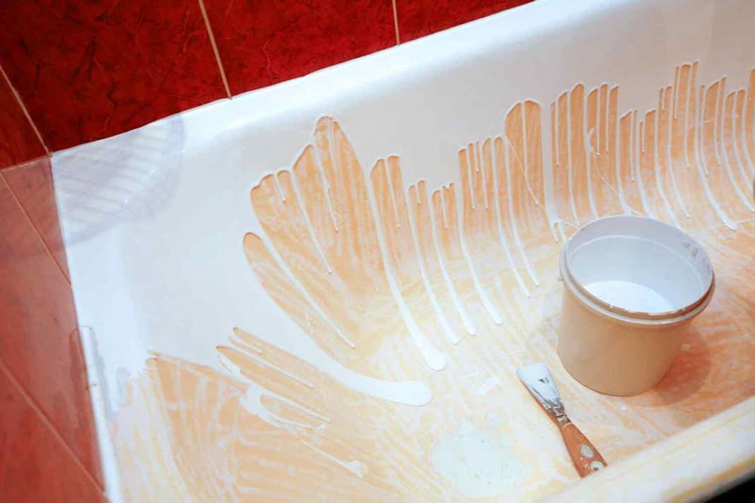 Реставрация старых ванн наливным акриловым покрытием