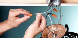 Схема подключения люстры на двухклавишный выключатель